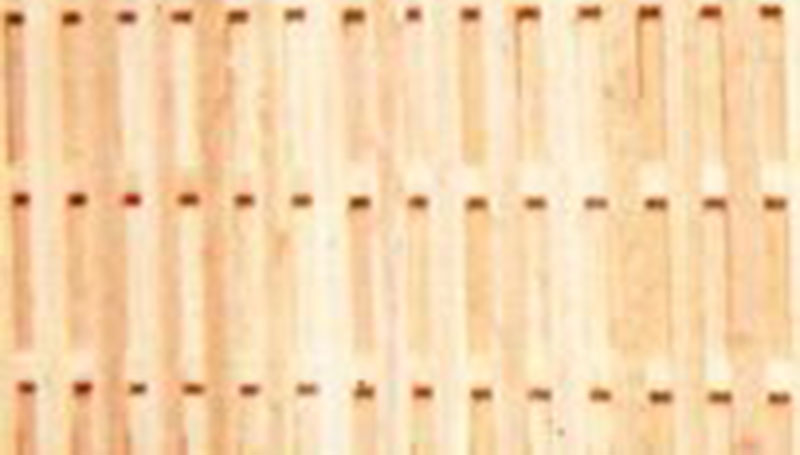 yellow pine picket fence